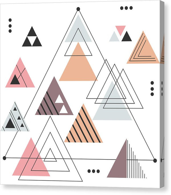 Geometric Boho Triangle Design - Canvas Print from Wallasso - The Wall Art Superstore