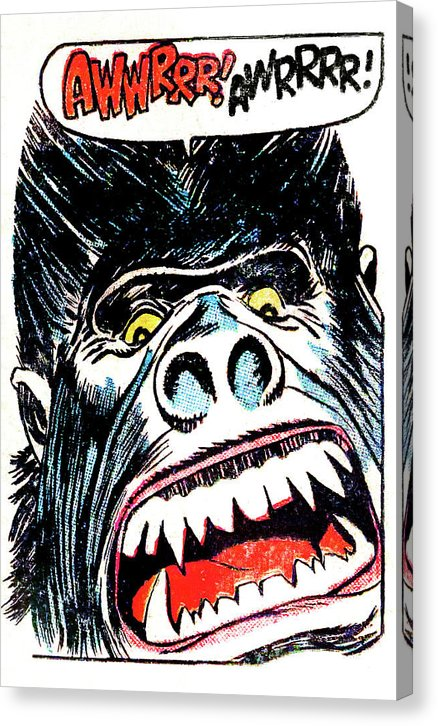 Gorilla, Vintage Comic Book - Canvas Print from Wallasso - The Wall Art Superstore