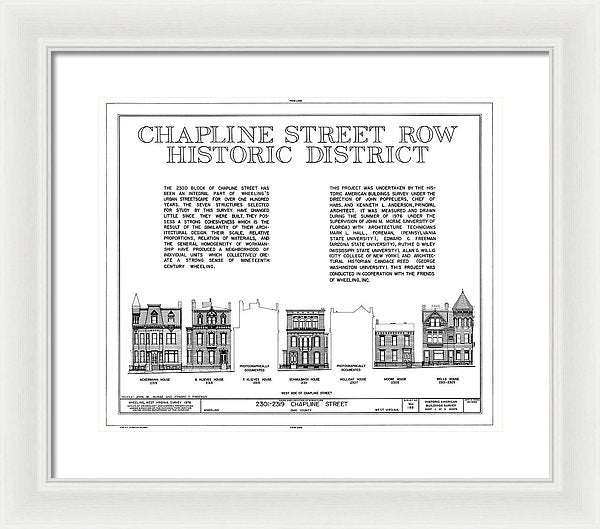 Historic District Wheeling, West Virginia Design - Framed Print from Wallasso - The Wall Art Superstore