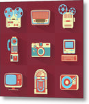 Icons of Retro Electronics - Metal Print from Wallasso - The Wall Art Superstore