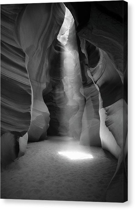 Light Streaming Down Into Slot Canyon - Canvas Print from Wallasso - The Wall Art Superstore