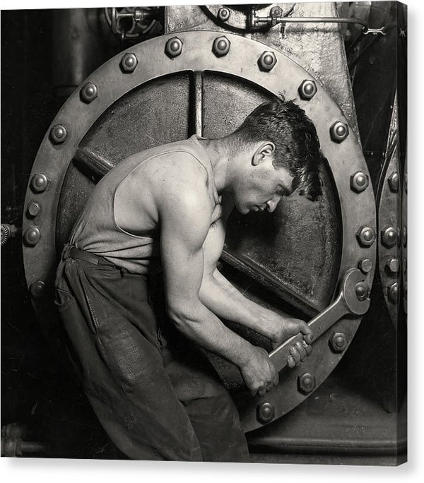 Power House Mechanic, 1920 - Canvas Print from Wallasso - The Wall Art Superstore
