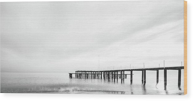 Remnants of An Old Pier, Panoramic - Wood Print from Wallasso - The Wall Art Superstore