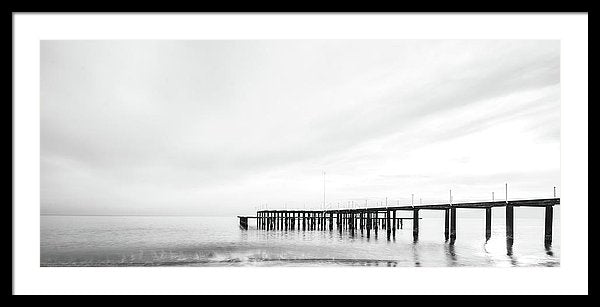 Remnants of An Old Pier, Panoramic - Framed Print from Wallasso - The Wall Art Superstore