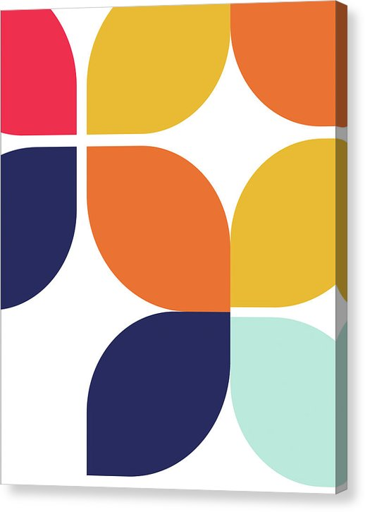 Retro Bauhaus Inspired Design - Canvas Print from Wallasso - The Wall Art Superstore