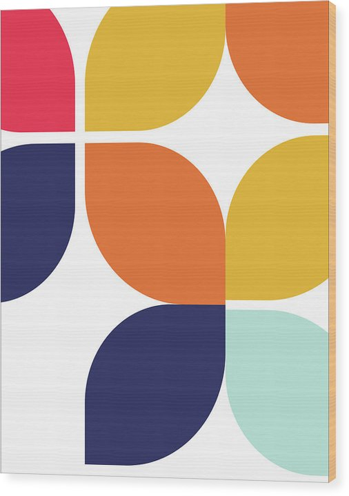 Retro Bauhaus Inspired Design - Wood Print from Wallasso - The Wall Art Superstore