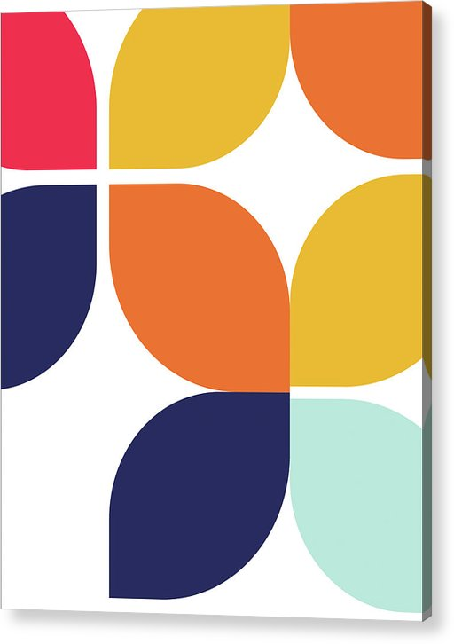 Retro Bauhaus Inspired Design - Acrylic Print from Wallasso - The Wall Art Superstore