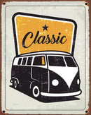 Rusty Yellow Distressed Classic Volkswagen Bus Sign - Art Print from Wallasso - The Wall Art Superstore