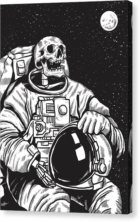 Skeleton Astronaut - Canvas Print from Wallasso - The Wall Art Superstore