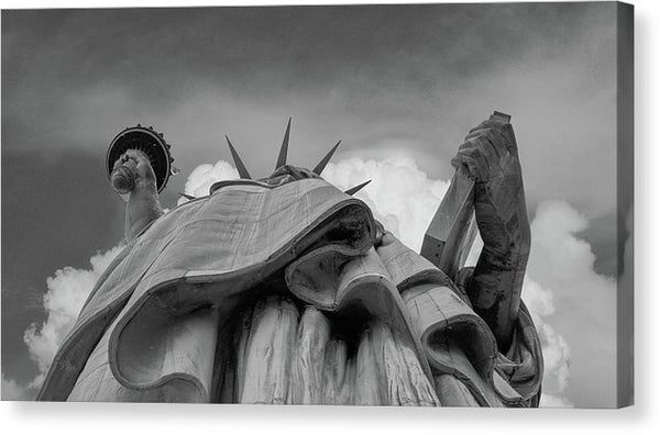 Statue of Liberty, Looking Up - Canvas Print from Wallasso - The Wall Art Superstore
