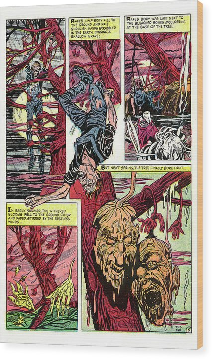 The Fruit of Death, Vintage Comic Book - Wood Print from Wallasso - The Wall Art Superstore