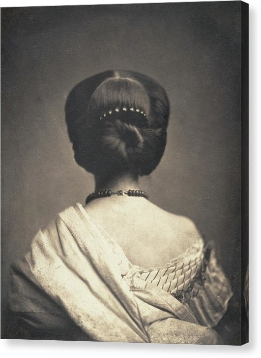 Vintage Abstract Photo of Woman Seen From The Back, Ca. 1862 - Canvas Print from Wallasso - The Wall Art Superstore