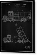 Vintage Dump Truck Patent, 1934 - Canvas Print from Wallasso - The Wall Art Superstore