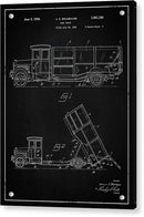 Vintage Dump Truck Patent, 1934 - Acrylic Print from Wallasso - The Wall Art Superstore