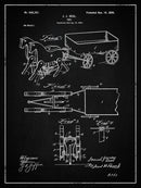Vintage Horses and Cart Toy Patent, 1899 - Art Print from Wallasso - The Wall Art Superstore