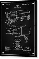 Vintage Horses and Cart Toy Patent, 1899 - Acrylic Print from Wallasso - The Wall Art Superstore
