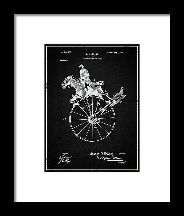 Vintage Horse Toy Patent, 1900 - Framed Print from Wallasso - The Wall Art Superstore