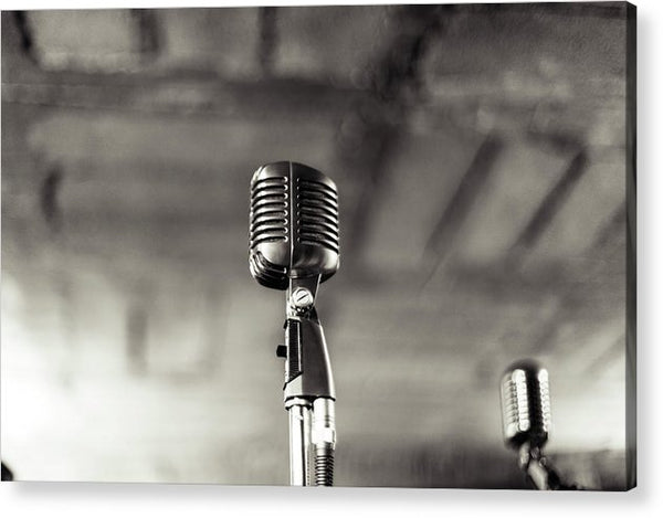 Vintage Microphone - Acrylic Print from Wallasso - The Wall Art Superstore