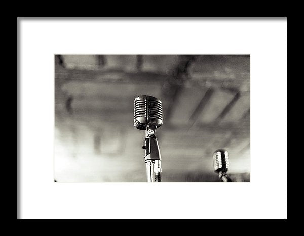 Vintage Microphone - Framed Print from Wallasso - The Wall Art Superstore
