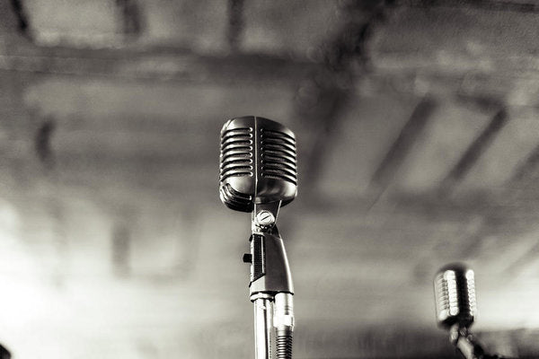 Vintage Microphone - Art Print from Wallasso - The Wall Art Superstore