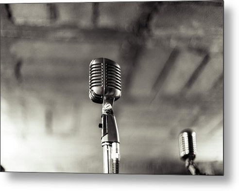 Vintage Microphone - Metal Print from Wallasso - The Wall Art Superstore