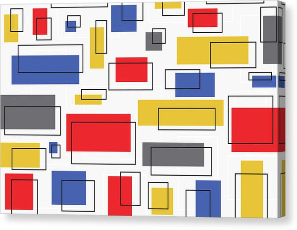 Vintage Mondrian Bauhaus Design - Canvas Print from Wallasso - The Wall Art Superstore