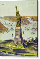 Vintage Statue of Liberty Illustration - Acrylic Print from Wallasso - The Wall Art Superstore