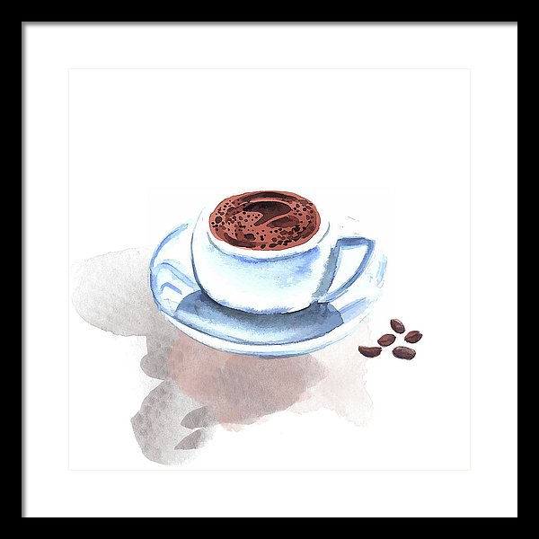 Watercolor Coffee Cup Painting - Framed Print from Wallasso - The Wall Art Superstore