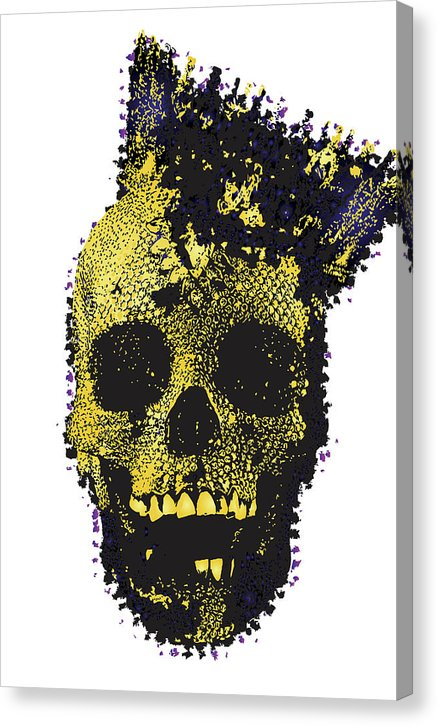 Modern Skull Wearing Crown - Canvas Print from Wallasso - The Wall Art Superstore