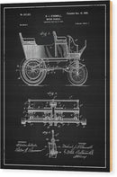 Vintage Motor Vehicle Patent, 1899 - Wood Print from Wallasso - The Wall Art Superstore