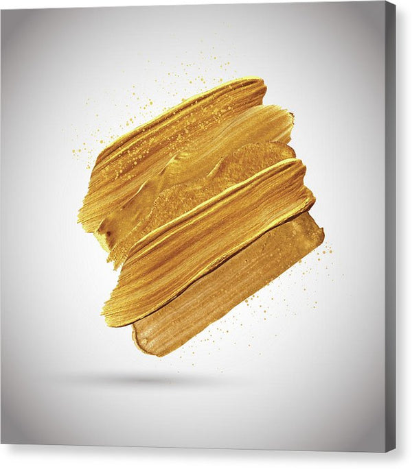 3D Gold Paint Splotch - Canvas Print from Wallasso - The Wall Art Superstore