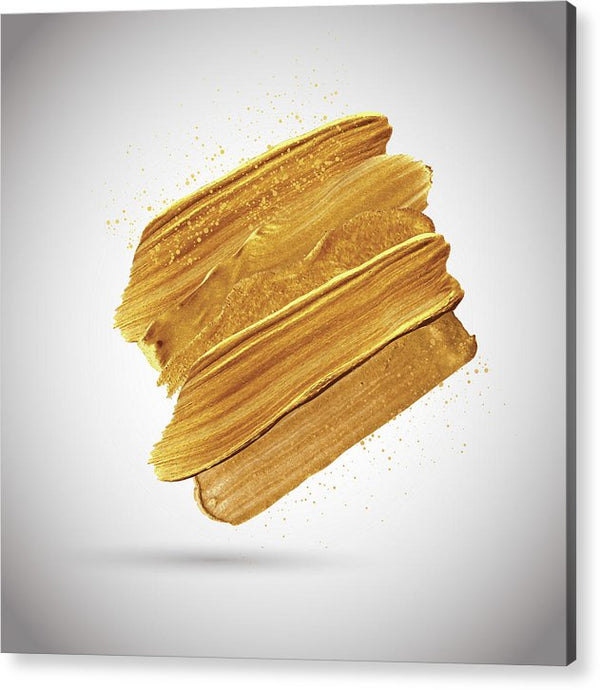 3D Gold Paint Splotch - Acrylic Print from Wallasso - The Wall Art Superstore