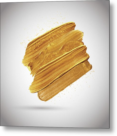 3D Gold Paint Splotch - Metal Print from Wallasso - The Wall Art Superstore