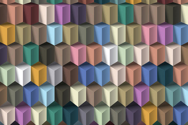 3D Isometric Illusion Pattern - Art Print from Wallasso - The Wall Art Superstore