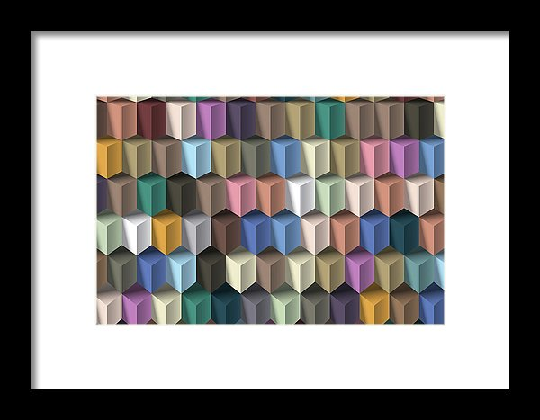 3D Isometric Illusion Pattern - Framed Print from Wallasso - The Wall Art Superstore