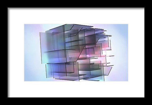 3D Isometric Panels - Framed Print from Wallasso - The Wall Art Superstore