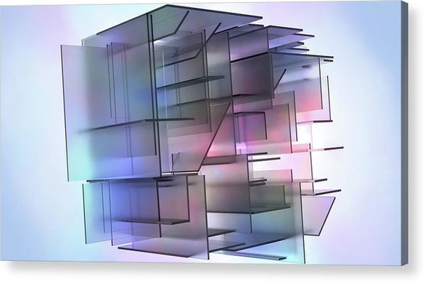 3D Isometric Panels - Acrylic Print from Wallasso - The Wall Art Superstore