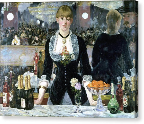 A Bar At The Folies Bergere by Edouard Manet, 1882 - Canvas Print from Wallasso - The Wall Art Superstore