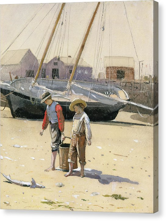 A Basket Of Clams By Winslow Homer, 1873 - Canvas Print from Wallasso - The Wall Art Superstore