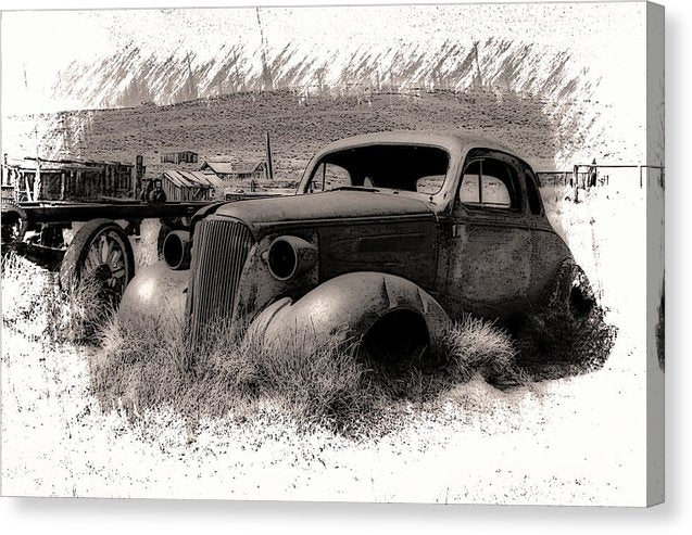 Abandoned Car At Bodie Ghost Town - Canvas Print from Wallasso - The Wall Art Superstore