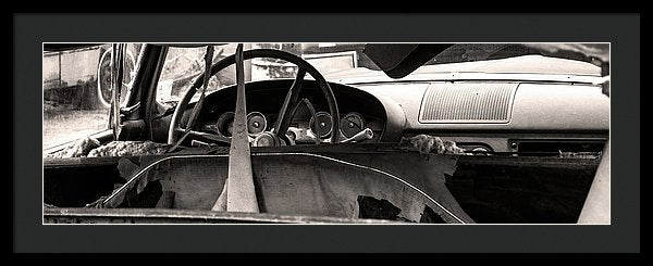 Abandoned Car Panoramic - Framed Print from Wallasso - The Wall Art Superstore