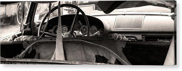 Abandoned Car Panoramic - Acrylic Print from Wallasso - The Wall Art Superstore