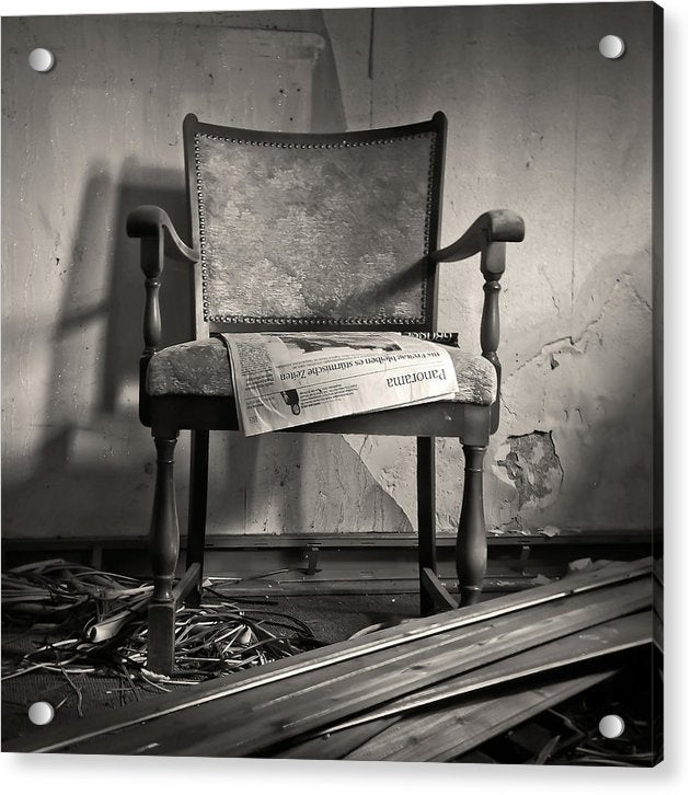 Abandoned Chair - Acrylic Print from Wallasso - The Wall Art Superstore