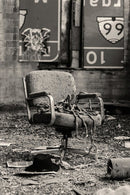 Abandoned Office Chair With Rope - Art Print from Wallasso - The Wall Art Superstore