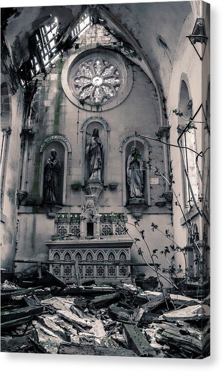 Abandoned Church Altar - Canvas Print from Wallasso - The Wall Art Superstore