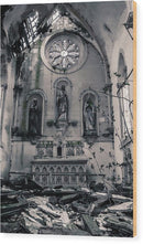 Abandoned Church Altar - Wood Print from Wallasso - The Wall Art Superstore