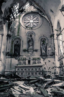 Abandoned Church Altar - Art Print from Wallasso - The Wall Art Superstore