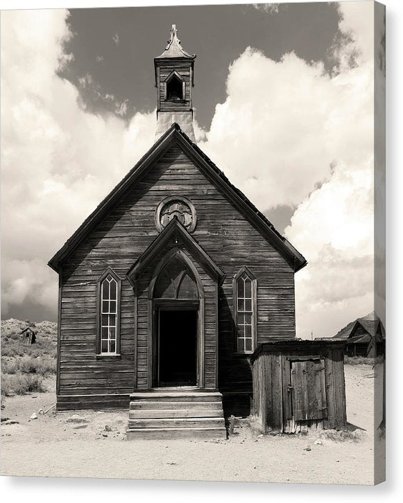 Abandoned Church At Bodie Ghost Town - Canvas Print from Wallasso - The Wall Art Superstore
