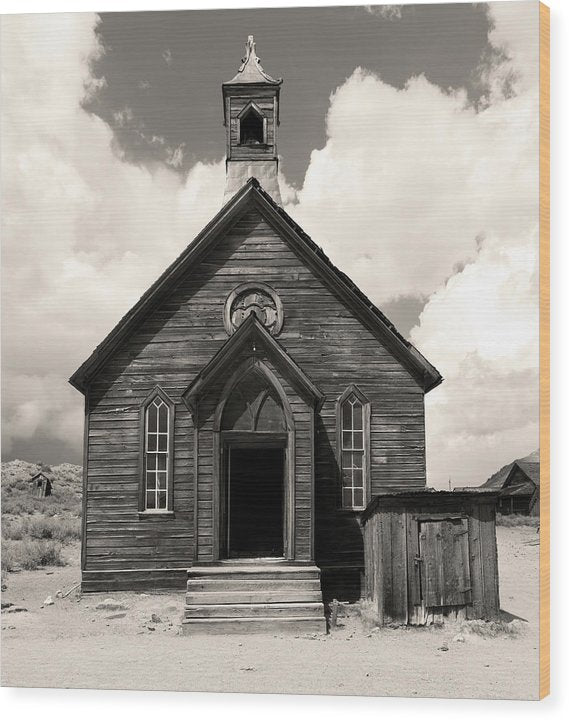 Abandoned Church At Bodie Ghost Town - Wood Print from Wallasso - The Wall Art Superstore