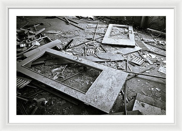 Abandoned Doors and Debris - Framed Print from Wallasso - The Wall Art Superstore